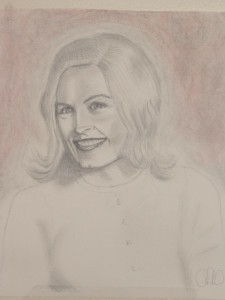 pencil drawing of a lady