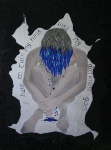 woman sitting on floor depicting depression